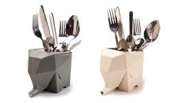 Trend Matters Elephant Cutlery Drainer - Cream
