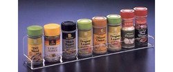 Long Spice Rack, Clear Acrylic Cabinet Door Mounted Organizer
