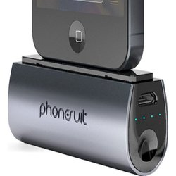 Phonesuit MICRO2AP1 Battery for iPhone 4/4S - Retail Packaging - Black