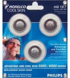 Philips Norelco HQ167 Cool Skin Replacement Heads for 6700 Series