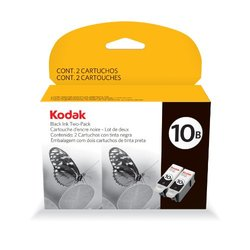 Kodak Black 10B Ink Cartridge - Black - Pack of 2