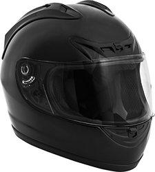 Fuel Helmets SH-FF0016 Full Face Helmet, Gloss Black, Large 504689