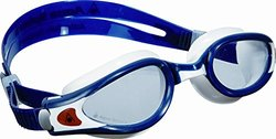 Aqua Sphere Kaiman Exo Swimming Goggles with Clear Lens, Blue Muted/White