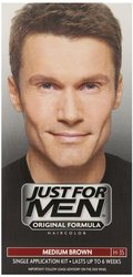 Just for Men Application Shampoo-In Hair Color - Medium Brown 35 - 3 Pk