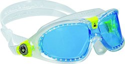 Aqua Sphere Kid's Seal Kid 2 Goggles with Blue Lens, Transparent