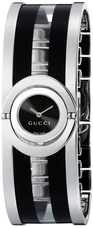 c19241ba8b2 Gucci Women s Twirl Transparent Acetate Bangle Watch - Black - Check ...