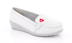 Rasolli Comfort Leather Shoes - Nurse -1 - White - Size: 9