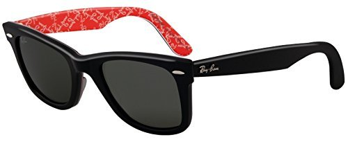 c74670bac6d ... Ray-Ban Original Wayfarer Sunglasses Black On Red Texture Frame - 50mm  ...