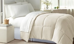 Wexley Home All-Seasons Down-Alternative Comforter - Ivory - Size: Twin