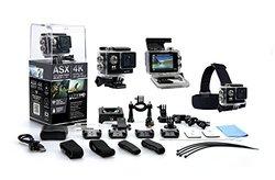 ASX ActionPro Black 4K Ultra HD Wifi Sports Camera Bundle