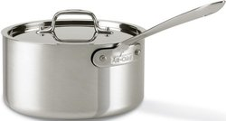 All-Clad 3.5-Quart MC2 Stainless Steel Tri-Ply Bonded Saucepan - Silver