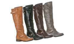 Riverberry Women's 'Mia' Knee-High Riding Boots - Tan - Size: 7.5