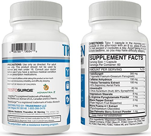 TROXYPHEN Natural Testosterone Booster For Men Pills Help Build