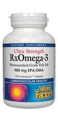 Natural Factors Ultra Strength Rxomega-3 Factors - 900mg - 150-Count