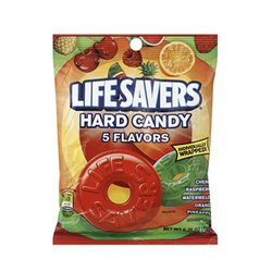LifeSavers 5 Flavor Hard Candy, 6.25-Ounce Bags (Pack of 12)