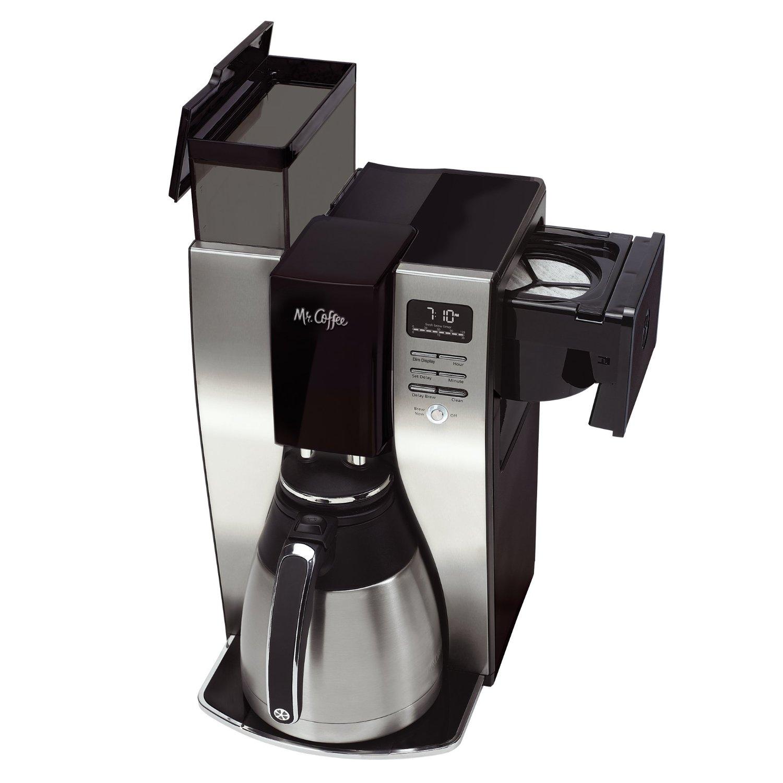 Mr Coffee Optimal Brew 10 Cup Thermal Coffeemaker Black Stainless Steel
