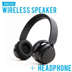 EyeCandis SoundBot SB250 Stereo Wireless Speaker Headphone (Sou-8288)