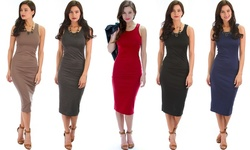 Lyss Loo Body-con Midi Dress: Toffee - Medium