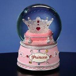 San Francisco Princess Musical Crown Water Globe Figurine - Pink