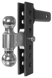 Andersen Mfg 3296 8 inch Ez Adjust Hitch - 2 x 2. 31 inch Plated Steel Combo Ball With 8K, 10K Gtwr.