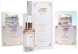Vivo Per Lei Kit Dead Sea Mineral Complete Treatment Set Day / Night / Eye Creams (3Pack)