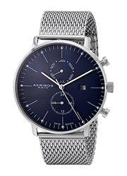 Akribos XXIV Men's Multifunction Bracelet Watch: Blue Dial (AKGP685SSBU)