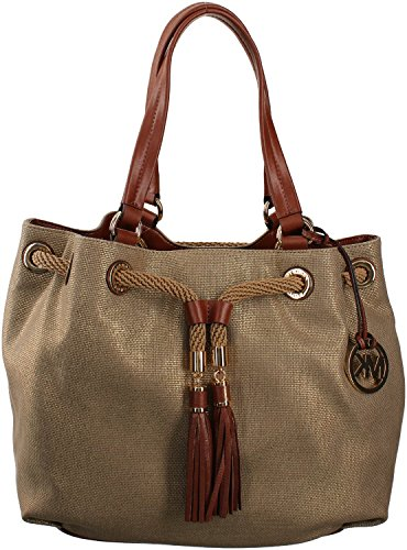 cf0cae71d9fd8a ... Michael Kors Women's Jet Set NS Marina Large Gathered Tote Handbag ...