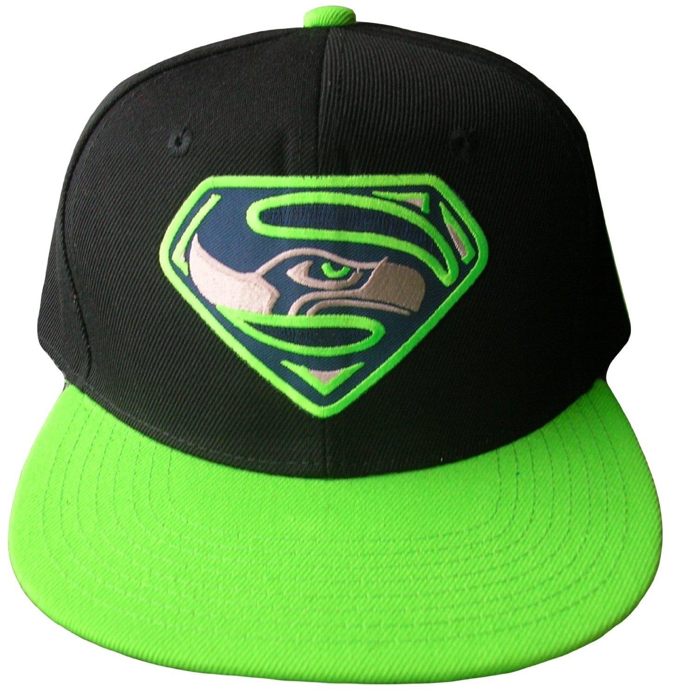 ffaa893d8c7 ... TradeCo Superhawks Snapback Embroidered Baseball Hat Cap -Black Neon  Green ...