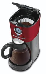 Mr. Coffee BVMC-VMX36 12-Cup Programmable Coffeemaker, Red/Black