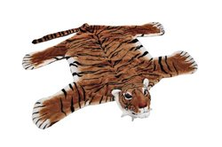 "Zeckos 43x27.5"" Safari Plush Tiger Decorative Rug"