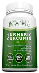 Purely Holistic Turmeric Curcumin Capsules - 120 Count