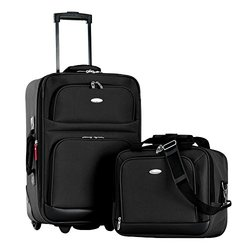 2-Piece Olympia 'Let's Travel'  Carry-on Collection: Black