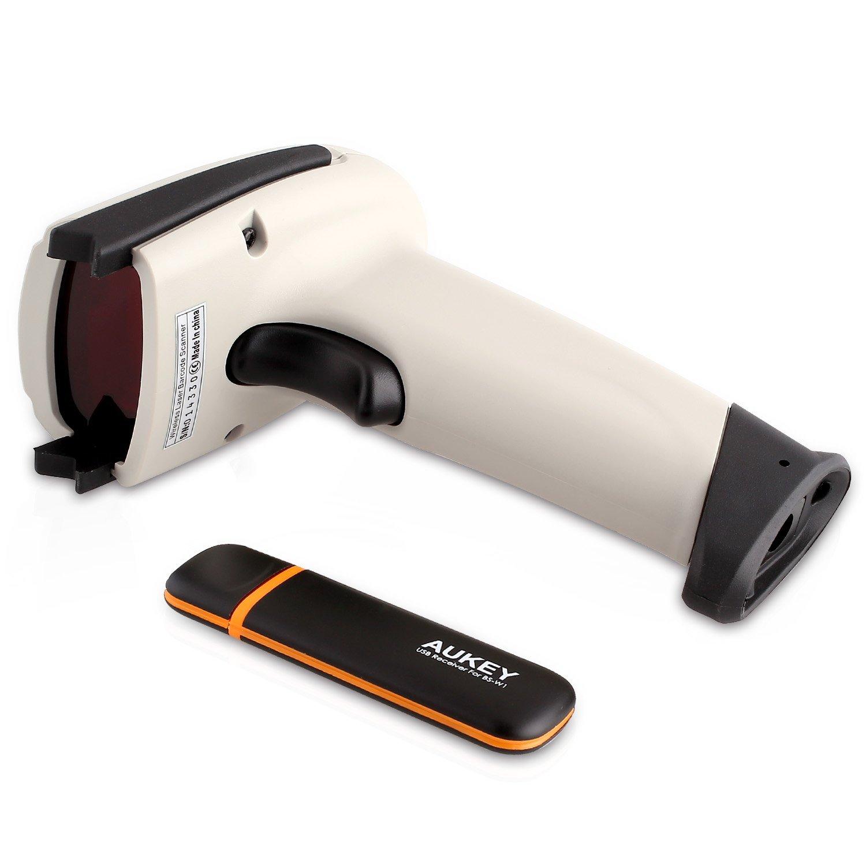 Aukey 2 4G Wireless Handheld Barcode Scanner with USB