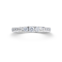 Diamond Affection 1/4 Cttw Round 10k White Gold 3-Stone Engagement Ring