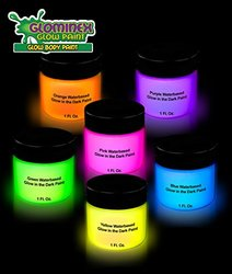 CoolGlow Glominex Glow in the Dark Face and Body Paint - Pk of 6 - 1 oz ea