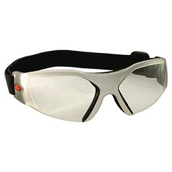 Bangerz Women's Close Contoured Eyeguard (Clear Frame / Clear Lens) white