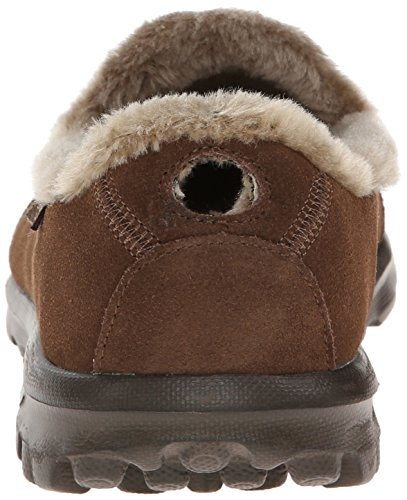 6a7c17f39d ... Skechers Women's Go Walk Snug Memory Fur Walking Shoe - Chocolate  -Size: ...
