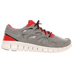 half off c03f4 b6624 Nike Mens Free Run 2 Running Shoes - Cool Grey/Black/Chilling Red - Sz: 9
