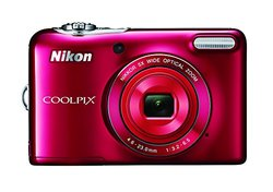 Nikon COOLPIX L32 20.1MP Digital Camera - Red (26482)