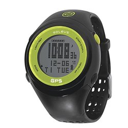 Soleus Unisex GPS Fit 1.0 Lime & Black Resin Digital Watch