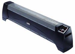1500 Watt Low Profile Silent Room Heater with Digital Display - Black