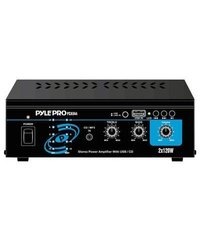 Pyle Home PCAU44 Mini 2x120 Watt Stereo Power Amplifier with USB CD Input