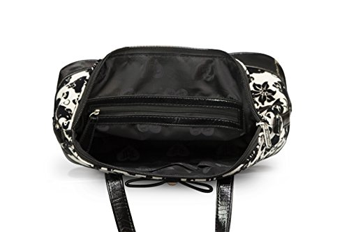 6204c7929 Loungefly Hello Kitty Black & Cream Floral Bag - Check Back Soon - BLINQ