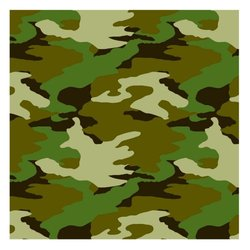 "Adventurous Camouflage Birthday Party Decorations - 30"" - Camouflage Green"