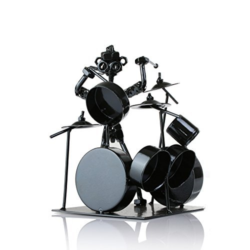 ... ZOVIE Stainless Iron Drummer u0026 Drum Set Musician Statue - Black ...  sc 1 st  Blinq & ZOVIE Stainless Iron Drummer u0026 Drum Set Musician Statue - Black ...