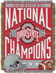 NCAA Ohio State Buckeyes National Champions Throw - Red - 48x60""