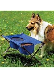 Dog Travel Diner Portable - #4592 Foldable Blue