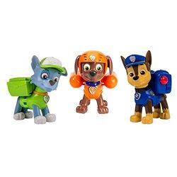 Nickelodeon, Paw Patrol - Action Pack Pups 3pk Figure Set Chase, Rocky, Zuma