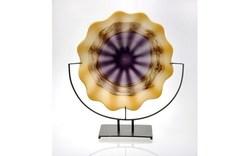 """VizArt Glass -4263 Plate 21"""" Horizontal Collection"""