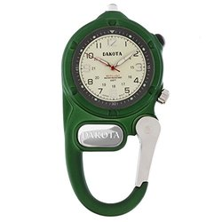 Mini Clip Microlight, Cream Military Dial, Green Case